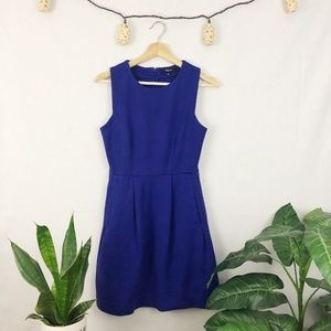 Madewell Fit & Flare Afternoon Dress Indigo Blue 2